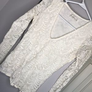 Hollister lace long sleeve top